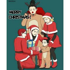 Shikadai should be grateful for having Uncles ! He doesnt need Santa!