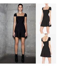 1324162ac5 Bandage Dress Women 2013 Trendy A Line Sexy Short Sleeve Pleated Design Elegant  Black Bandage Black Evening Party Club Dress