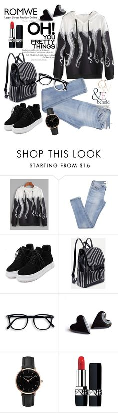 """""""Untitled #304"""" by aazraa ❤ liked on Polyvore featuring WithChic, Topshop, ASOS and Christian Dior"""