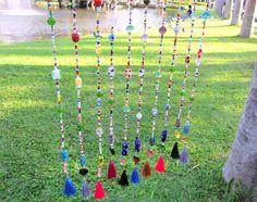 9.99 midget gems Silk tassel glass beads Mobile Home Decor Window Decor Window mobile Window decoration