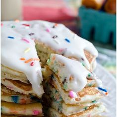 Birthday Cake Pancakes for my two year old!