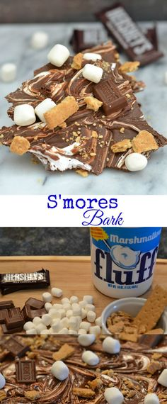 Treat yourself to S'mores year round with this delicious S'mores Bark! Your kids will go crazy when they taste it. So will you! Pin for Later!