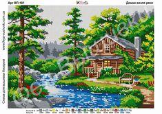 Cross Stitch Charts, Cross Stitch Designs, Cross Stitch Patterns, Cross Stitching, Cross Stitch Embroidery, Adult Color By Number, Cross Stitch Landscape, C2c, Diy Christmas Ornaments