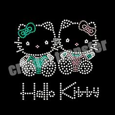 Hello Kitty Rhinestone Iron on Transfer For T-shirt