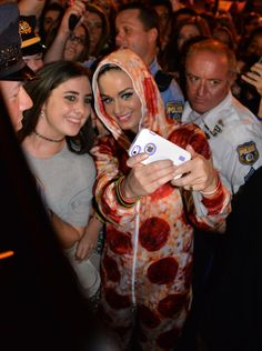 Katy Perry appearance at Rocky Steps