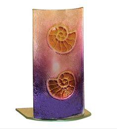 Nautilus Shell Art Glass Accent Lamp