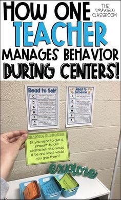 Center management for teachers! #classroommanagement #behaviormanagement