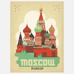 World Travel Moscow Print