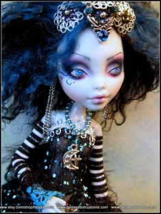 Custom Lagoona Monster High Pixie - OOAK Repaint and Outfit by Fantasy Dolls by…