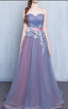Sleeveless Formal Dress Sweetheart Floor-length Tulle Applique Lace #prom #promdress #dress #eveningdress #evening #fashion #love #shopping #art #dress #women #mermaid #SEXY #SexyGirl #PromDresses