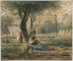 In the Garden -  Jean-François Millet (1860) Museum of Fine Arts - Boston