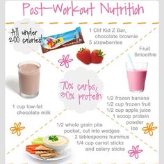 weightlossroutines's on Instagram ~ post workout nutrition