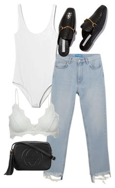 """Untitled #2444"" by mollyk99 ❤ liked on Polyvore featuring Gap, M.i.h Jeans, Gucci and Anine Bing"