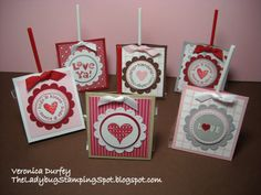 stamped valentine cards | The Ladybug Stamping Spot: Valentine Pops Holder/ Chupas de San ...