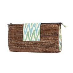 Banana fibre with Ikkat clutch