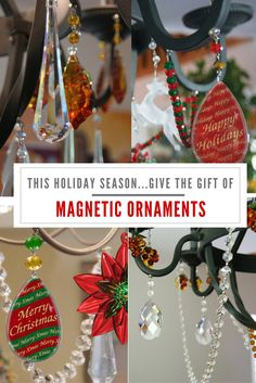 MAGNETIC ORNAMENTS make the Holiday Season just so much brighter! Christmas Ornaments To Make, How To Make Ornaments, Christmas Projects, All Things Christmas, Winter Christmas, Holiday Crafts, Christmas Holidays, Christmas Bulbs, Happy Holidays