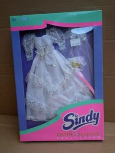 Sindy Bride Marinee Wedding Outfit White Dress Gown 1995 Hasbro (No Doll) Sindy Doll, Bridal Outfits, Vintage Dolls, Bridal Style, Wedding Styles, Doll Clothes, White Dress, Gowns, Bride
