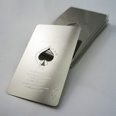 Stainless Steel Metal Business Cards #metalbusinesscards @Formink