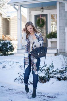 Grey Bow Sweater #WinterStyle