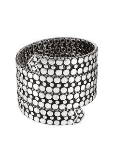 John Hardy Dot Silver Bangle Bracelet