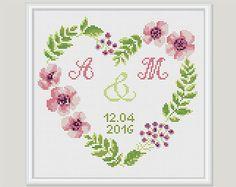 Wedding Cross Stitch Pattern - Wedding Gift - Customisable Wedding Cross Stitch Pattern - PDF format - Instant download