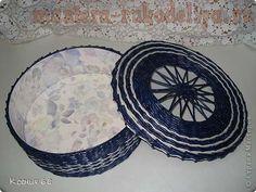 Master-class weaving newspaper: Round Box