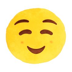 When words aren't enough Emoji Pillows® let you say it with a smile! Now you can send a Blush in huggable pillow form. The same bright emojis you know and love work even when your phone drops dead fro