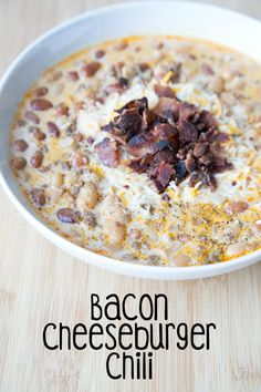 Slow Cooker Bacon Cheeseburger Chili ~ NEW 31 Days of Chili, Soups & Stews FoodBlogs.com