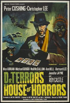 """""""Dr. Terror's House of Horrors"""" - Five strangers board a train and are joined by a mysterious fortune teller who offers to read their Tarot cards. Five separate stories unfold."""