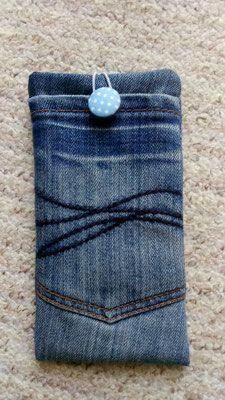 handytasche aus jeans made by zakkaya via ann f r mich f r dawanda die. Black Bedroom Furniture Sets. Home Design Ideas