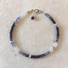 BOHO style Sweet Sterling Silver Hummingbird Charm Lavender Chalcedony Gemstone bracelet with /& Karen Hill Tribe Sterling Silver bead