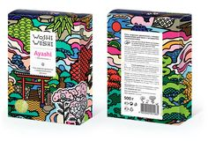 Woshi-Woshi line of products includes bath salts made of sea salt with herb and flower extracts. The packaging design is built around Japanese motifs, inspired by the line's brand name.