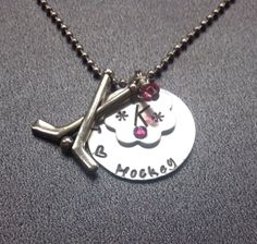 A personal favorite from my Etsy shop https://www.etsy.com/listing/205935613/hand-stamped-hockey-necklace-hockey