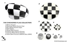 See The Other Great Products Available For Your MINI In Checkered Flag Pattern. -  - MINI Steering Wheel Center Cap  - Photo #5