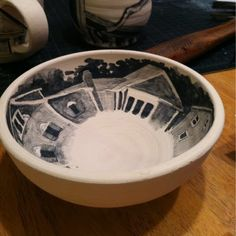 Drawing and painting on pottery with underglaze pencil