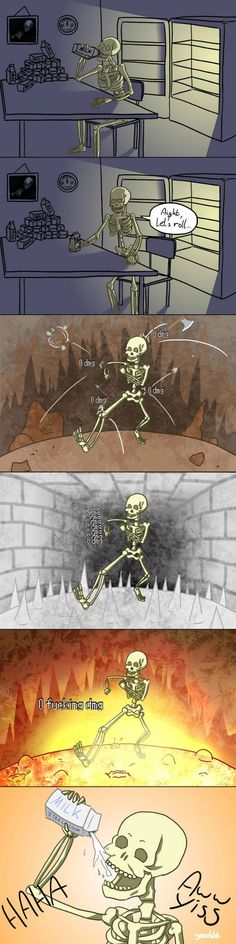 Why skyrims skeletons are so weak- they're afraid of being a milk drinker