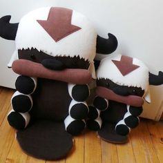Yip Yip!! Bring home your very own baby Flying Bison! These cute Appa plushies are each handmade with soft anti-pilling polar fleece and stuffedwith polyfill. Available in two sizes to charm any Avatar fan!