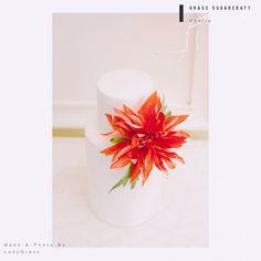 Wafer paper flower wedding cake - Dahlia