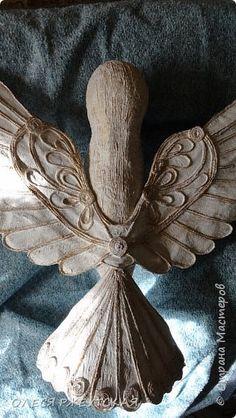 Поделка изделие Пасха Папье-маше ГОЛУБЬ Бумага Шпагат фото 1