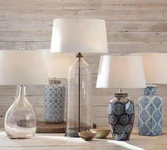 Blue and White Ceramic Lamps. Discussing the Pottery Barn version along with other looks for less - Life On Virginia Street