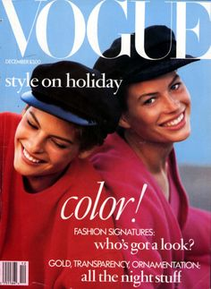 Timeless | Linda Evangelista & Carré Otis by Peter Lindbergh for Vogue US December 1988