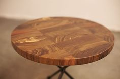 Round Perfection Tripod Wood The South Tripod, Tables, Objects, Steel, Wood, Interior, Furniture, Home Decor, Mesas