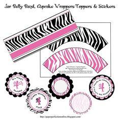 Paper Perfection: Zebra Print Party Printables