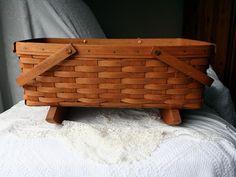 1990 RETIRED  Longaberger DOLL CRADLE or Large Gathering Basket