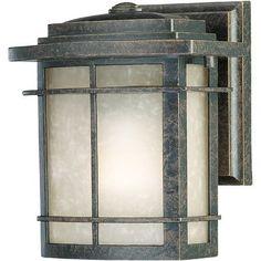 "Loon Peak Ashcroft 1 Light Outdoor Wall Lantern Size: 14.5"" H x 11.5"" W x 10"" D"