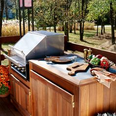 Building an Outdoor Kitchen with Your Deck - Custom Touches - How to Design & Build a Deck. DIY Advice