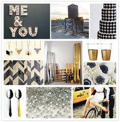 Navy blue and yellow + silver painted palettes master bedroom colors again...love the silver glitter!