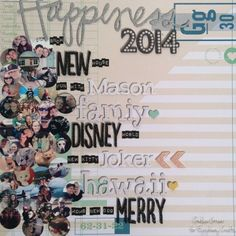 #scrapbook #layout featuring the #epiphanycrafts Shape Studio Tools Round 25 and Chevron. #2015 #chevron