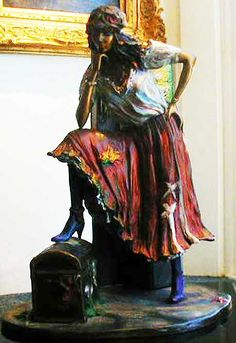 The Gypsy - Bronze Sculpture ~ Isaac Maimon