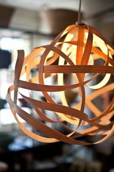 hanging bent wood light fixture | Winnow Gallery & Goods